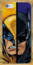 Wolverine vs Batman Style Hard Plastic Case Cover Coque For All Phone Models