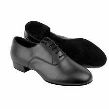 Very Fine Mens Ballroom Dance Shoes C919101 Black Leather (Competition Grade)