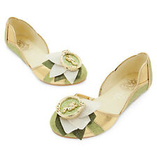 NWT Disney Store Tiana Costume Shoes The Princess N The Frog 7/8 9/10 11/12 2/3