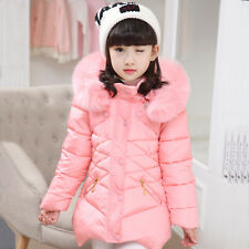 Girls Jackets Warm Cotton Coats Girls Winter Parkas Thicken Hooded Outerwear