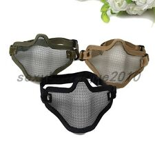 Outdoor Sports Lower Half Face Metal Wire Mesh Mask Ear Tactical Protector New