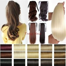 100% Real Clip In human Hair Extension Pony Tail Drawing Ponytail As Human H96