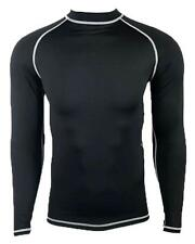 NWT Beach Rays Adult Long Sleeve Black Surf Swim Rash Guard Top 06090001 BLK