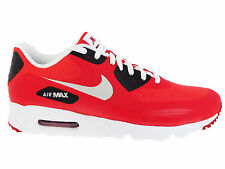 NEW MENS NIKE AIR MAX 90 ULTRA RUNNING SHOES TRAINERS ACTION RED / PURE PLATINUM