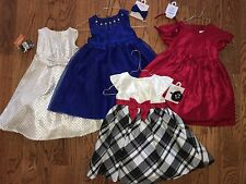 NWT Gymboree BEST IN BLUE & VERY MERRY Holiday Dress w/accessory, size 3T girls