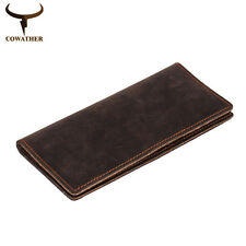 Men's Wallets Vintage Real Cow Crazy Horse Leather High Quality Purse