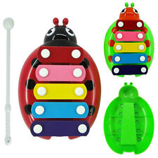 1Set New 5-Note Xylophone Musical Beetle Toy Baby Kids Wisdom Developmental Toy