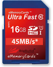 16GB Memory card for Canon Legria FS406 Camcorder | Class 10 80MB/s SD SDHC New
