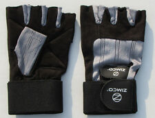 Zimco Weight Lifting Gloves Fitness Mitts Genuine Leather Gloves Sliver