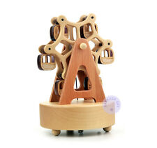 "Play ""Jingle Bells"" Wooden Ferris Wheel Music Box with Sankyo Musical Movement"