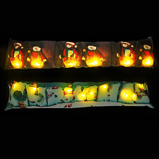 LED Draught Excluder - snowman, Christmas, festive, decoration, warmer, cushion