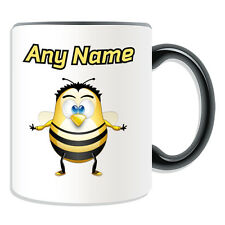 Personalised Gift Bee Mug Money Box Cup Funny Novelty Penguin Cartoon Honey Name
