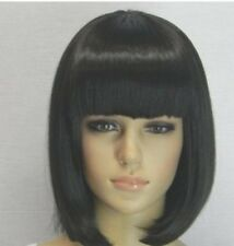 Short Black Cosplay Wig Anime Fashion Sexy Full Straight Synthetic Hair Blonde B
