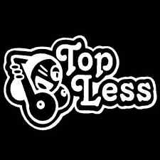 Top Less Vinyl Decal Car Truck Window Sticker Boobies Boobs JDM Euro Drift Hoon