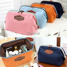 Women Lady Travel Makeup bag Cosmetic pouch Clutch Handbag Casual Purse Case OK