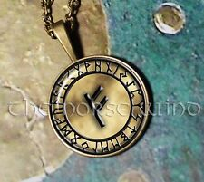 Rune Necklace Viking Runes Pendant of Your Choice Protection Amulet Norse Asatru