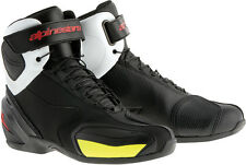 ALPINESTARS SP-1 Road/Street Motorcycle Shoes (Black/White/Red/Yllw) Choose Size
