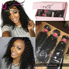 3 Bundles/300g 7A Virgin Brazilian Curly Hair Wet and Wavy Hair Weave Extensions