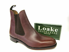MENS LOAKE BROWN WAXY LEATHER FORMAL SMART CHELSEA BOOTS HICKSTEAD FITTING F