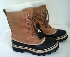SOREL WOMEN'S SNOW CARIBOU BOOT BUFF COLOR WATER PROOF