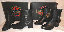 "HARLEY DAVIDSON SADIE, WOMENS 8"" BLACK LEATHER BOOTS, CHOOSE SIZE 9.5 OR 10, NEW"