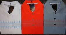 NEW MENS ADIDAS S/S CLIMACOOL PULSE PRINT POLO GOLF SHIRT, PICK COLOR & SIZE,$80
