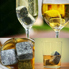 1/9pcs Whisky Ice Stones Cooler Drinks Cubes Whiskey Scotch Rocks Granite