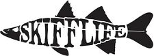 Skiff Life Snook Fish Car & Truck Decal Stickers Text