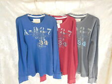Mens XL AEROPOSALE thermsl knit Tee LONG Sleeve red Gray or Blue Shirt New XL