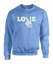 Love T Peace Hand Sweater Sign Freedom Sweatshirt Independence Flag Funny S Gift