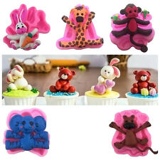 3D Animal Silicone Fondant Chocolate Cake Mould Decor Icing Sugarcraft Mold Baby