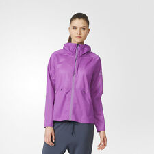 Adidas Climastorm Womens Purple Waterproof Training Hooded Jacket Top