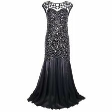 1920s Great Gatsby Sequin Dress Mermaid Tail Party Prom Ball Gown Evening Dress