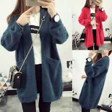 Korea Style Women's Long Sleeve Knitted Cardigan Sweater Outwear Coat Sweaters