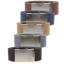 D555 Kingsize Mens 4.0 cm Plain Webbing Belt (Edward)