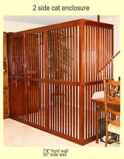 Customizable Wooden Pet Room Divider with Door, Indoor Pet Enclosure