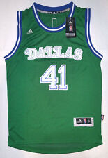 Adidas NBA Dallas Mavericks Dirk Nowitzki Green Retro Swingman Men Jersey