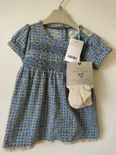 Next Girls Blue Tunic Dress & Tights Outfit Set 3-6 9-12 Months  BNWT
