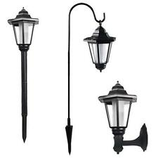 Vintage Solar Powered Wall Mounted/ stake LED Light Garden Path Landscape Lamp