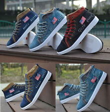 New Arrive Fashion England Mens Washed Denim canvas shoes casual sneakers SSS