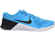 NEW MENS NIKE METCON 2 CROSS TRAINING SHOES TRAINERS BLUE GLOW / WHITE / BLACK