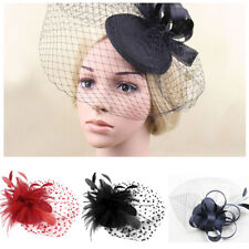 Flower Hair Clip Feather Flower Mini Top Hat Fascinator Wedding Party Decor