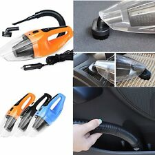 120W 12V Handheld Wet & Dry Vacuum Cleaner Hoover Portable Rechargeable Car Home