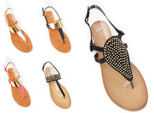 LOT 5 Strappy Rhinestone Detailed Thong Sandals Faux Suede PVC Flat Thong shoes