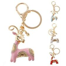 Cute Goat Sheep Charm Pendant Crystal Key Ring Chain Keychain Keyring Gift Accs