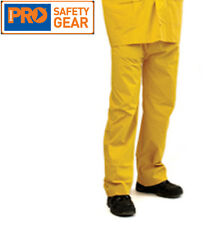 Yellow Reinforced PVC Heavy Duty Rain Pants