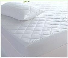 Luxury Quilted Fitted Bed Cover Mattress Protector / Topper , Pillow Protectors