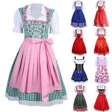 Cheers Traditional German Girl Dirndl Fancy Dress Oktoberfest Xmas Party Costume