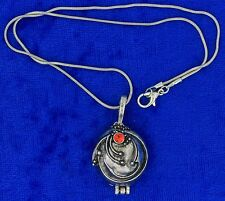 Elena Vervain Locket Necklace Silver Color Vampire Diaries Chain Length Choice
