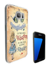 3040 Alice Cheshire Cat Case Cover For Samsung Galaxy J3 J5 A3 A5 S6 S7 Edge